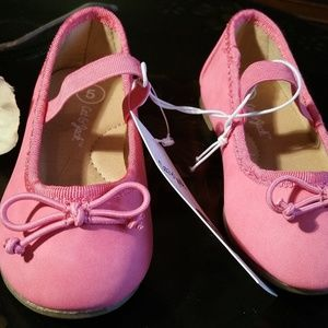 NWT Cat & Jack Size 5 Walker Pink Flat Shoes